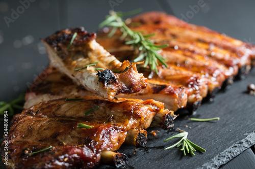 Foto Murales Grilled BBQ ribs
