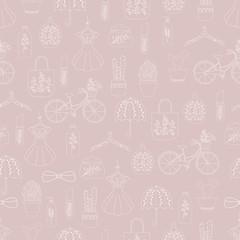 Hand drawn doodle fashion seamless pattern © natashapetrova