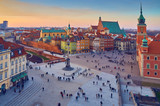 Panoramic view of  Zamkowy Castle square, Warsaw, Poland