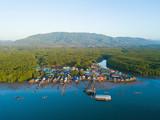 Fototapeta Na ścianę - waterfront village at Ban Sam Chong Tai © chachanit