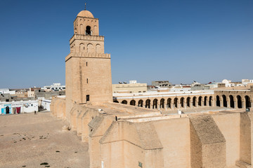 KAIROUAN, TUNISIA - JULY 23, 2018: Kairouan, one of the first cities organized under Muslim rule in North Africa