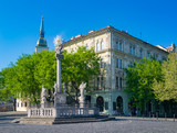 Plague Column at Fish Square in Bratislava, Slovakia