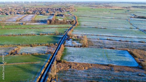 fototapeta na ścianę Beautiful landscape in Nordfriesland, Schleswig-Holstein