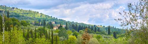 Beautiful Tuscany panorama, in the Chianti area