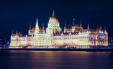 Night view of Parliament of Budapest - 244995302