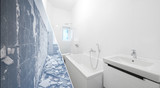 bathroom renovation - old and new bathroom  - - 244999165