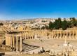 Forum in the ancient Roman city of Gerasa, Jerash, Jordan