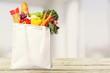 Quadro Full shopping  bag, isolated over  background