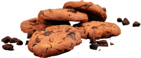 Cookie with Chocolate Chips - Isolated © BillionPhotos.com