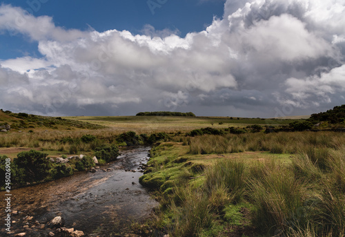 Poster Moors cloudy landscape