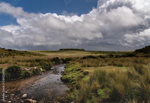 Moors cloudy landscape