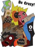 Fototapeta Fototapety dla młodzieży - Sticker with Crank © Додь Павел