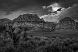 Red Rock Moonset BW - 245056188