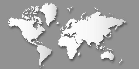 世界 地図 大陸 背景 © J BOY