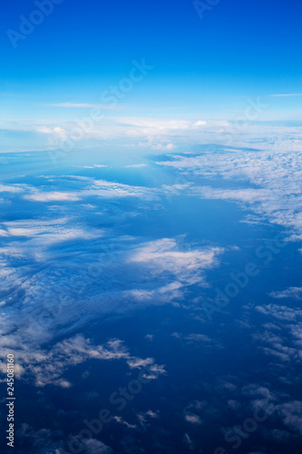 Clouds, a view from airplane window - 245081160
