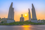 Democracy monument with sweet sky in Bangkok Thailand.