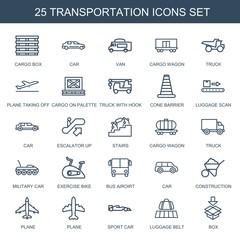 25 transportation icons