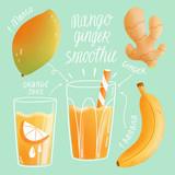 Mango ginger smoothie