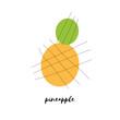 Abstract pineapple vector illustration - 245113758