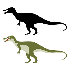 cartoon dinosaur,vector illustration ,flat style,profile