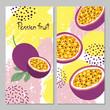 Passion fruit vector illustration. Bright summer print. - 245118140