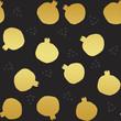 golden pomegranate texture illustration - 245124777