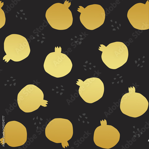 golden pomegranate texture illustration - 245124777