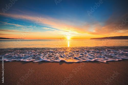 Beautiful sunrise over the sea - 245135793