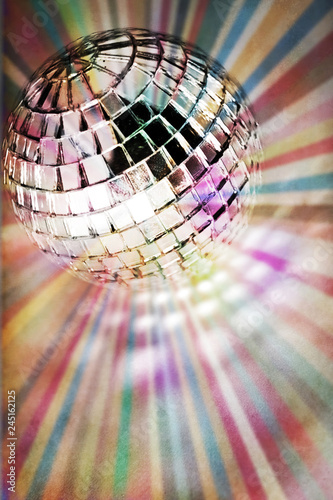bright color disco ball background - 245162125
