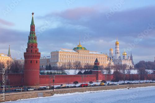Moscow Kremlin winter morning