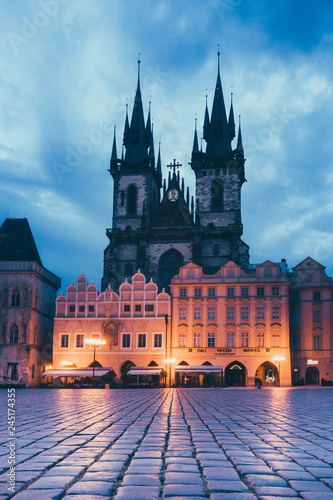 PRAGUE, CZECH REPUBLIC - July 25, 2017 : Old Town Square in Prague, Czech Republic