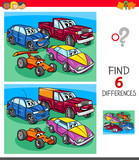 find differences game with cars