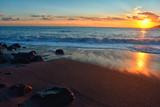 Fototapeta Zachód słońca - Vista panoramica al tramonto, mare della costiera amalfitana, Italia © cenz07