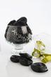 liquirizie rotelle in vaso di vetro fronte - 245312378