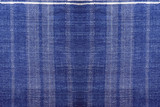 detail of texture of traditional Indigo white and blue natural dyed clothes - 245318545