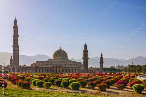 Leinwandbild Motiv Muscat, Oman. Sultan Qaboos Grand Mosque
