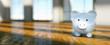 Leinwandbild Motiv Piggy Bank save money real estate investment concept