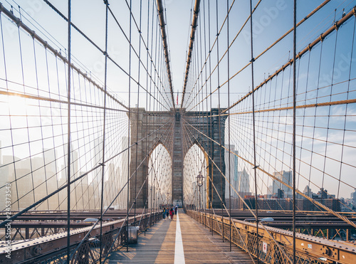 Brooklyn Bridge in the morning