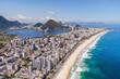 Quadro Rio de Janeiro, Brazil, Aerial View of Ipanema Beach and Lagoa in the Summer