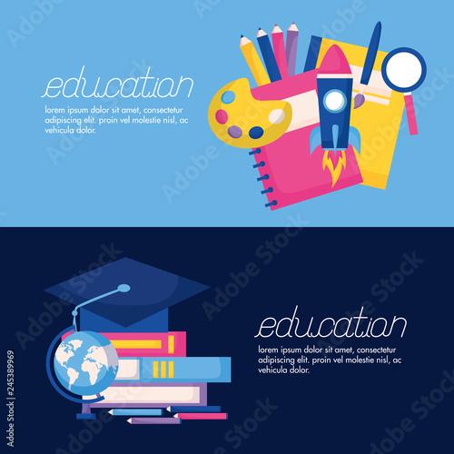 Fototapeta education supplies school