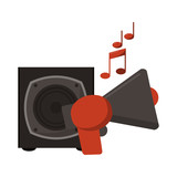 music bullhorn and speaker