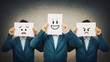 Leinwandbild Motiv different emotions mood change