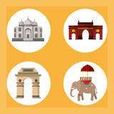 India round symbols