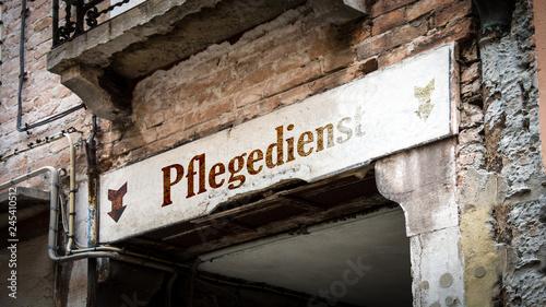 Schild 383 - Pflegedienst