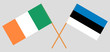 Ireland and Estonia. The Irish and Estonian flags. Official colors. Correct proportion. Vector - 245416311