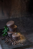 Chocolate pastry decorated with coffee beans - 245426940