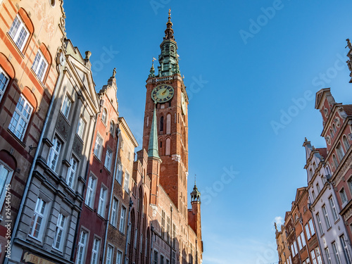 Gdansk, Polad, old tow City Hall and clock tower