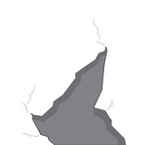 Isolated wall crack image. Vector illustration design - 245457968