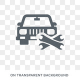 Vehicle repair icon. Trendy flat vector Vehicle repair icon on transparent background from Insurance collection. High quality filled Vehicle repair symbol use for web and mobile