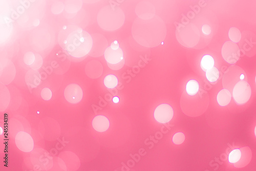abstract bokeh light effect with soft pink background - 245534319